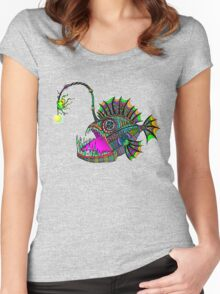 Electric Angler Fish Women's Fitted Scoop T-Shirt