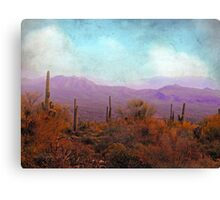 Golden Light and Purple Mountains Canvas Print