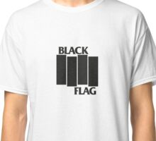 BLACK FLAG on WHITE Classic T-Shirt