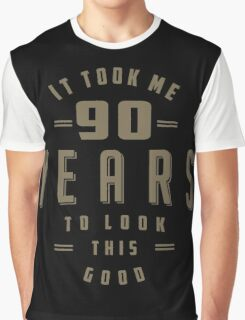 Funny 90th Birthday Graphic T-Shirt