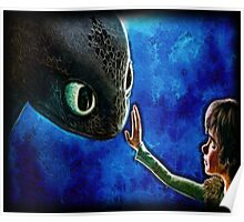 Hiccup And Toothless The Black Night Fury Dragon Poster