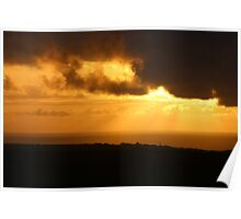 Sunset across the sea Poster