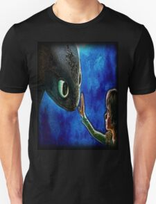 Hiccup And Toothless The Black Night Fury Dragon Unisex T-Shirt