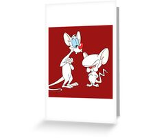 Best Friend Pinky And Brain Greeting Card