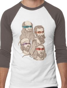 Leonardo, Michelangelo, Donatello, and Raphael... Oh and Splinter Men's Baseball ¾ T-Shirt