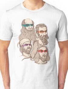 Leonardo, Michelangelo, Donatello, and Raphael... Oh and Splinter Unisex T-Shirt