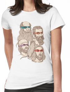 Leonardo, Michelangelo, Donatello, and Raphael... Oh and Splinter Womens Fitted T-Shirt