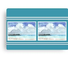 Beach house style 3 Canvas Print