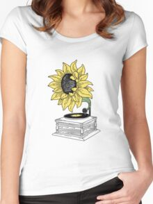 Singing in the sun Women's Fitted Scoop T-Shirt