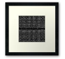 Black and white abstract chain pattern Framed Print