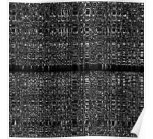Black and white abstract chain pattern Poster