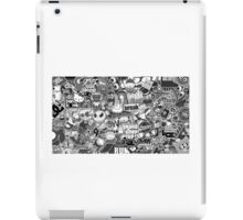 Amazing Stickers Black and White (White) iPad Case/Skin