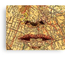 Face map Canvas Print