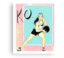 KO Stamp Canvas Print
