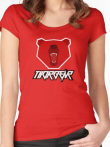 Thorbear logo with text Women's Fitted Scoop T-Shirt