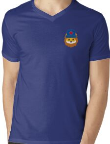 Blue Jays No Fear Lion Emoji Mens V-Neck T-Shirt