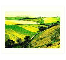 Downland Abstract Art Print