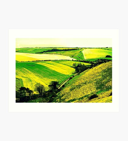 Downland Abstract Art Print