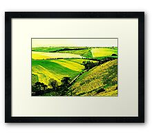 Downland Abstract Framed Print