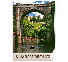 Knaresborough, boating Poster
