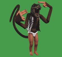 T Rex Monkey Baby Kids Tee