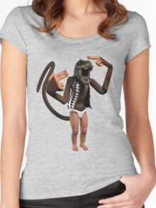 T Rex Monkey Baby Women's Fitted Scoop T-Shirt