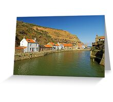 North Side and Staithes Beck Greeting Card