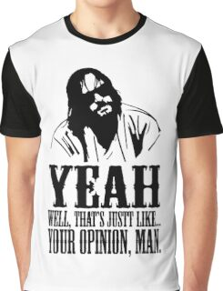 The Dude Abides The Big Lebowski Graphic T-Shirt