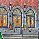Old churh entrance doors-HDR by henuly1