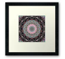 Black Lines Under The Rainbow Kaleidoscope Framed Print
