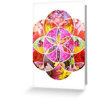 Flowers Geometric Collage Greeting Card