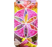 Flowers Geometric Collage iPhone Case/Skin