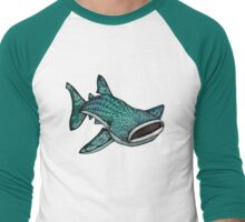 Whale Shark (Large) Men's Baseball ¾ T-Shirt