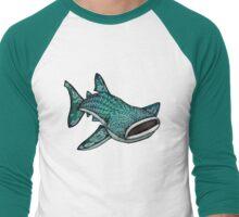 Whale Shark (Large) Men's Baseball ¾ T-Shirt