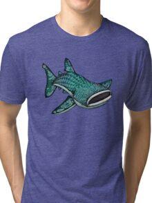 Whale Shark (Large) Tri-blend T-Shirt