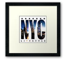 NYC LIFESTYLE Framed Print