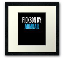 Rickson By Armbar (Brazilian Jiu Jitsu) Framed Print