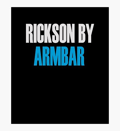 Rickson By Armbar (Brazilian Jiu Jitsu) Photographic Print