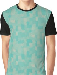 Fuzzy Aqua Graphic T-Shirt