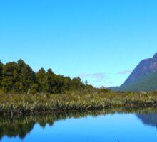 Mirror Lakes : Milford Sound : New Zealand Sticker