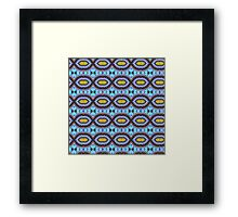 White Dwarf, Blue Dwarf, Seamless Pattern Two Framed Print