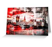 City-Art LONDON Red Bus Composing Greeting Card