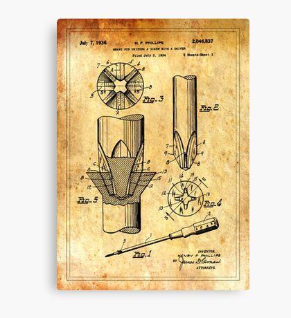 Patent Image - Screwdriver - Ancient Canvas Canvas Print