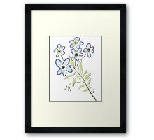 Digital Watercolour Forget-Me-Nots Framed Print