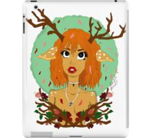 Into a New Season - Forest Deer Girl iPad Case/Skin