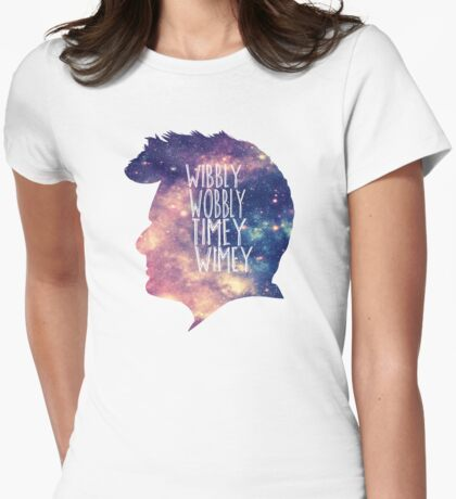 Wibbly wobbly Womens Fitted T-Shirt