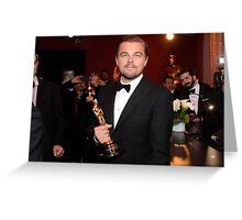 Leonardo Dicaprio oscars Greeting Card