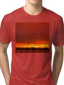 Crimson and amber world Tri-blend T-Shirt