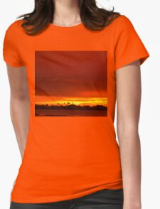 Crimson and amber world Womens Fitted T-Shirt