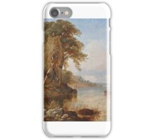 Thomas Creswick - Boating Party on the River Thames, England iPhone Case/Skin